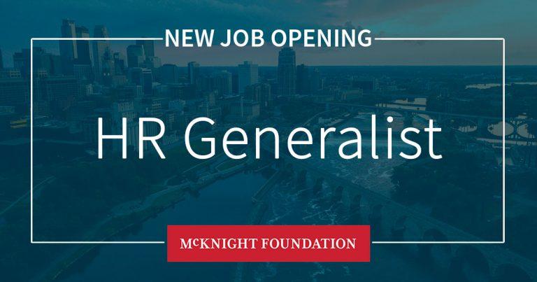 10 22 Hr Generalist Job Opening
