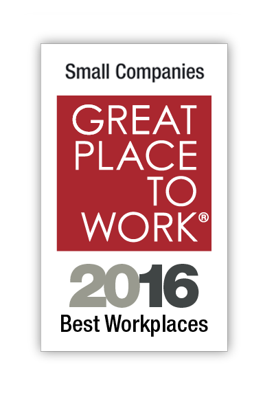 2016 small companies best workplaces logo