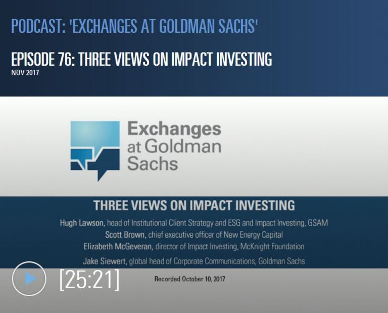 Exchanges At Golman Sachs