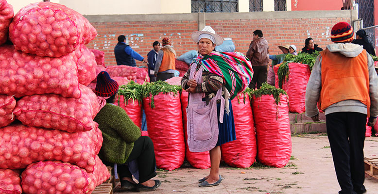 Peasant women have multiple roles. The role of marketing is vital to generating family income.