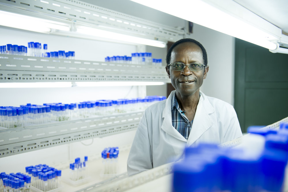 an African man in a lab