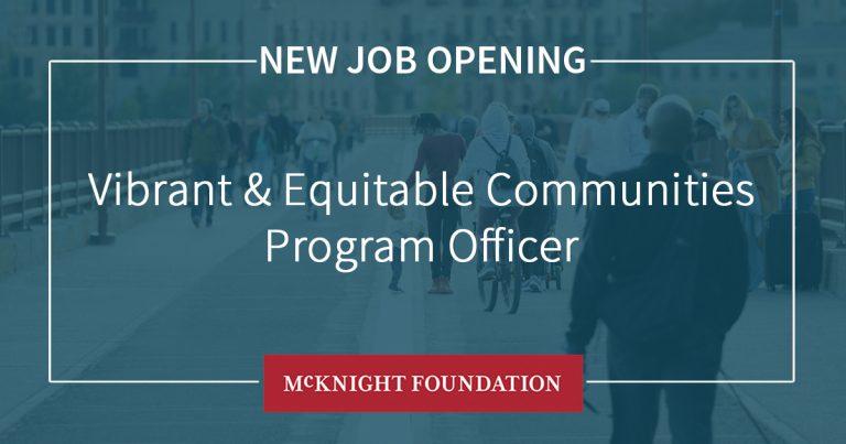 Vibrant & Equitable Communities Program Officer Social Card