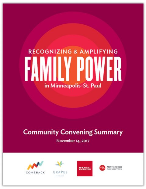 Report Cover for the Family Power Community Convening Summary