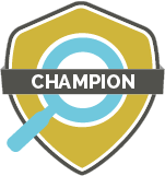 Champion Level Gold Badge for GlassPockets